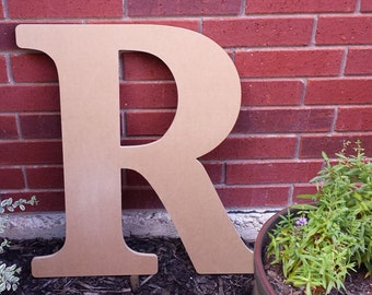 24 large wooden letter unfinished ready to paint