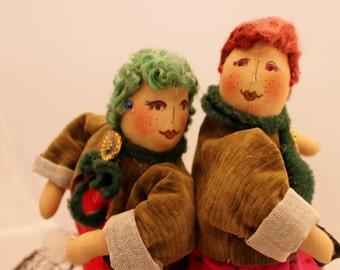 Doll, Gossip Girl Art Doll, OOAK Soft Sculpture Doll, Coffee Clatch Doll