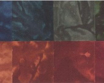 Fat Quarters Hand Dyed Cotton Fabrics Starr Design 20 Pack Fall Fantasy Quilting Sewing Crafting