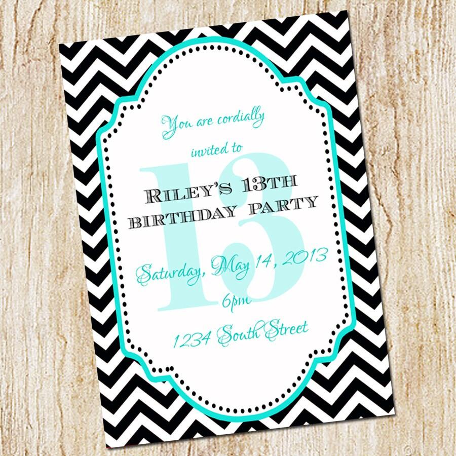 13th Birthday Party Invitation Girl Birthday By Peachymommy
