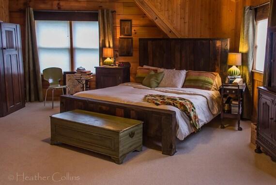 Mountain Man Reclaimed Rustic 4 Drawer Platform Bed