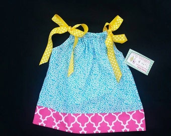 Pillowcase Dress - Girls Spring Dress - 1st Birthday Dress - Toddler Girl Dress - Groovy Gurlz