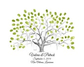Savannah Live Oak Thumbprint Tree Wedding Guestbook Alternative / Fingerprint Tree / Family Tree / Wedding / Anniversary / First Communion