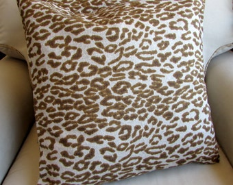 Cheetah pillow covers PAIR 18x18 20x20 22x22 24x24 26x26