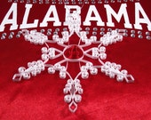 Alabama Crimson Tide Football: 'Roll Tide' is a gift packaged red and white quilled snowflake ornament Crimson Tide decor Alabama Roll Tide