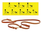 8-Way Lead in TAN--the most versitle 6 ft. dog leash ever--