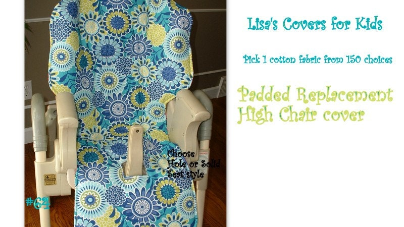Padded Replacement High Chair Cover Reversible Pick 1 Cotton