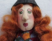 Hazel the Witch e-pattern (pin doll or ornie)