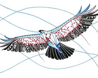 Heart Eagle Print