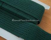 3 yards Hunter Green - Vintage Trim Juvenile 70s 80s New Old Stock Fun Stretchy Elastic Belting