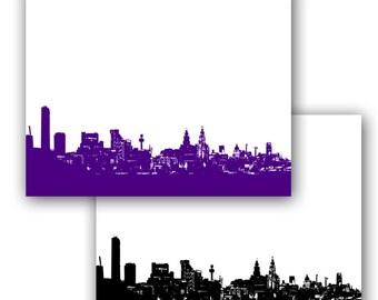 Liverpool Skyline Fine Art Print Modern Decor Wall Art City Home Decor, Mothers Day