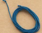 Teal handmade silk cord (1mm) – 1 yard/1 metre