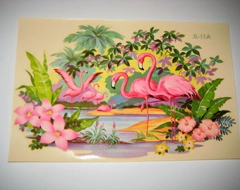 Vintage Flamingo Decal for Shabby Home Decor - Liberty Decal Company