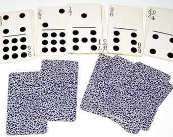 Antique (1906) Card Dominoes - Directions Included for Other Games Too