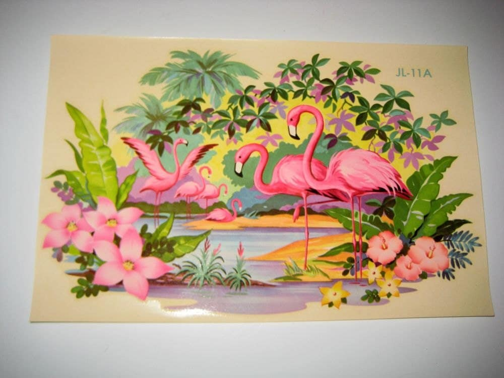 Vintage Flamingo Decal For Shabby Home Decor Liberty Decal