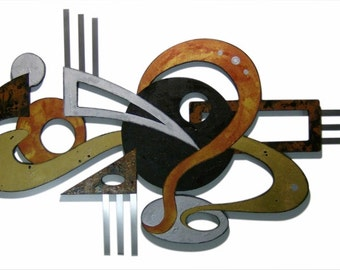 Unique Abstract Wall Sculpture Funky Contemporary Modern Wall Art  48 x 28