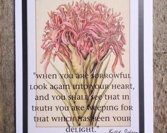 Botanical Sympathy card #38