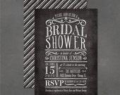 Chalkboard Bridal Shower Invitation - DIY print your own invite