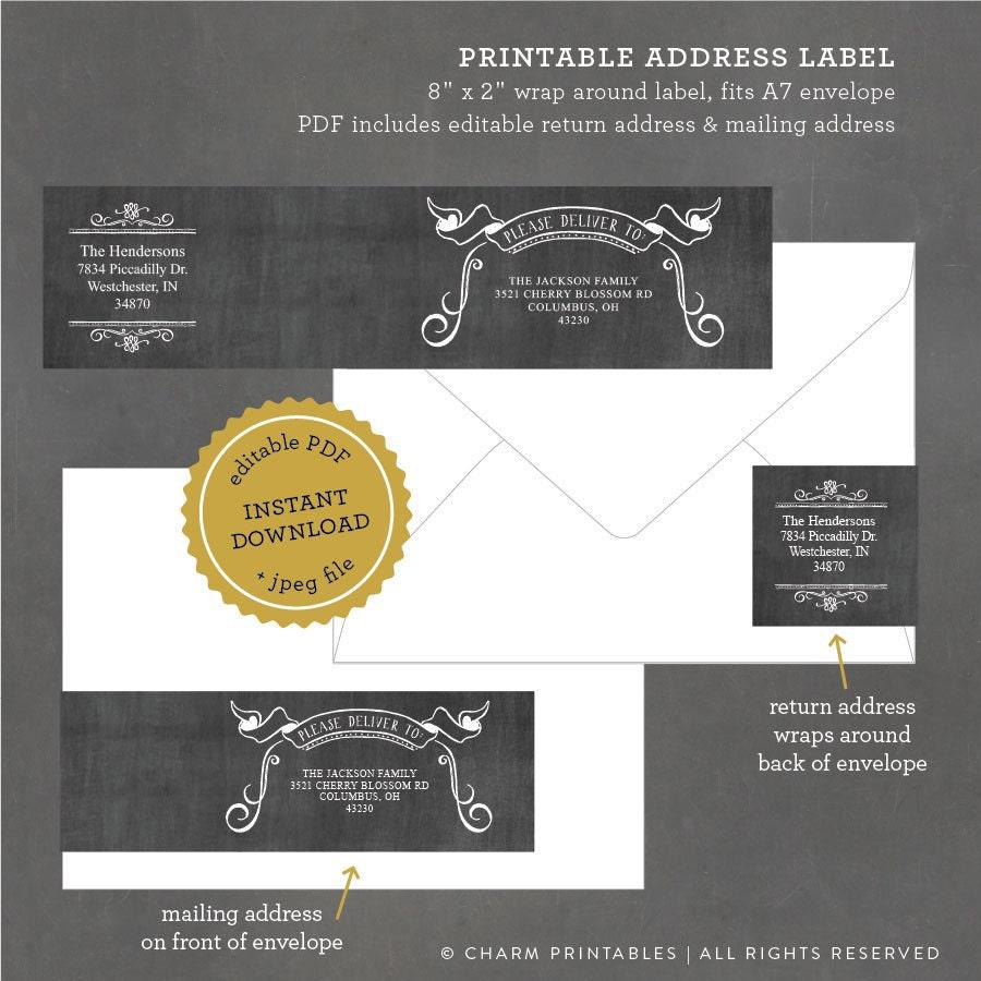 chalkboard wrap around address labels printable chalkboard. Black Bedroom Furniture Sets. Home Design Ideas