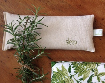 Organic Eye Pillow - Wheat and Flaxseed - Choose your scent: Lavender, Citrus, Rosemary, Rose