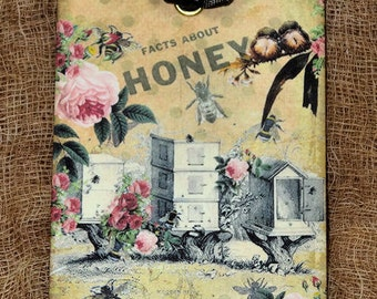 Honey Bee Bumble Bee Hive Gift or Scrapbook Tags or Magnet #428