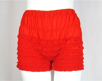 Vintage 60s Red Boy Leg Bloomers, Sz S