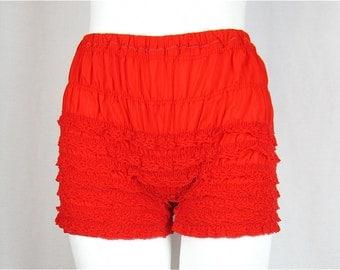 Vintage 60s Red Boy Leg Bloomers, Sz S