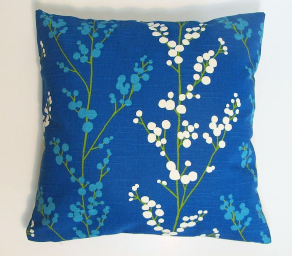 Set of two royal blue home decor royal blue pillow covers for Royal blue couch pillows