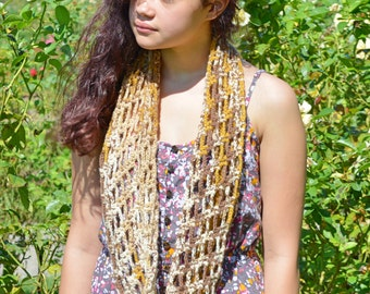 Shades of Brown Infinity Scarf Perfect for Fall or Winter