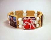WHITE CHRISTMAS Movie Bracelet / Christmas Jewelry / SCRABBLE Handmade Jewelry / Bing Crosby