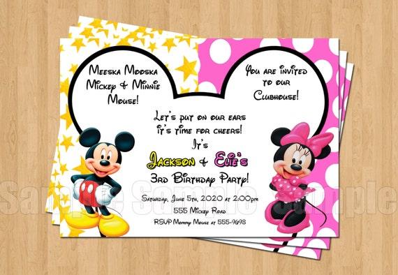 Eccezionale Festa di compleanno Minnie Topolino gemelli personalizzati LL41