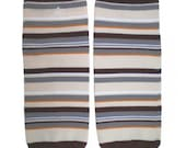 Clearance READY TO SHIP Multi Stripe Legwarmers Match up with Boy Diaper Cover Bloomers