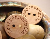 Personalized wood buttons engraved one and half inch