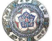 Iznik Pottery Dish with a Central Flower