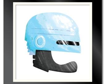 Robocop Helmet Print
