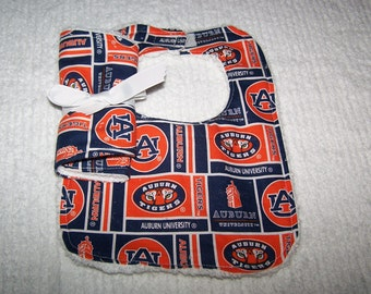 Tigers Auburn Football Team Boy Girl  Bib and Burp Cloth on Chenille-Teri