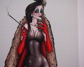 Selfie Cruella Deville 101 Dalmatians Postcard
