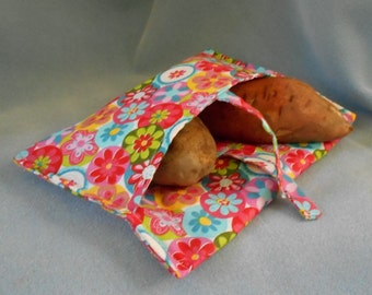 Coral Pink Microwave Potato Cooker