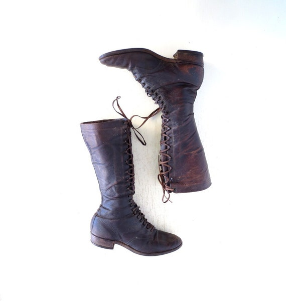 vintage 1920s boots chippewa boots s lace up