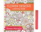 Flower Designs Coloring Book