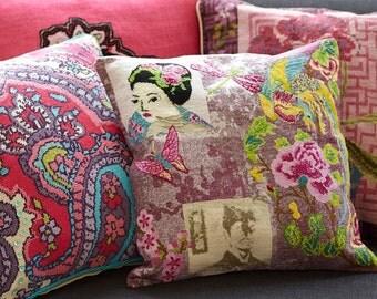 Cross stitch pattern CHINOISE - cross stitch,needlepoint,boho,cross stitch pillow,home decor,pillow,pillow cover,cushion,embroidery pattern