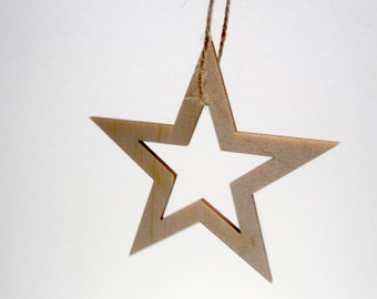 bag of star wooden ornaments