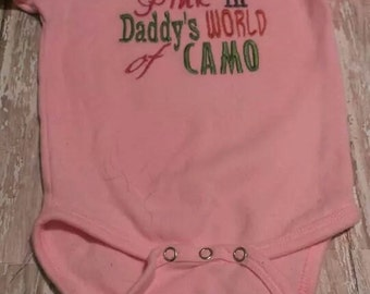 I am the pink in Daddy's world of CAMO