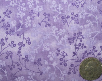 "Quilt Backing Fabric 108"" wide x 1.75 yards 100 percent Cotton  Lavender Purple Razzle Dazzle Ivy"