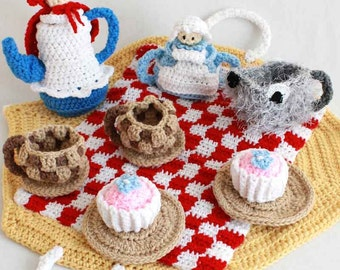 Red Riding Hood Tea Set Crochet Pattern - PDF