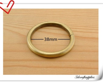 1.5 inch (inner diameter) metal brass O rings round ring Bag Ring 10pcs   U2