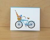 Sunshine Bike - Summer Bike - Beach Bike Card