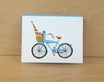 Sunshine Bike - Summer Bike - Beach Bike Card