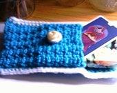 Handmade Bright Blue Tarot Card Case