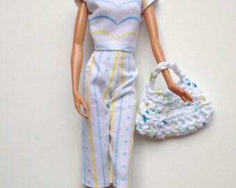 Handmade Barbie Clothes Capri Set (G104)